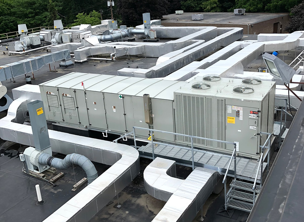 Industrial Rooftop A.C. Unit Install